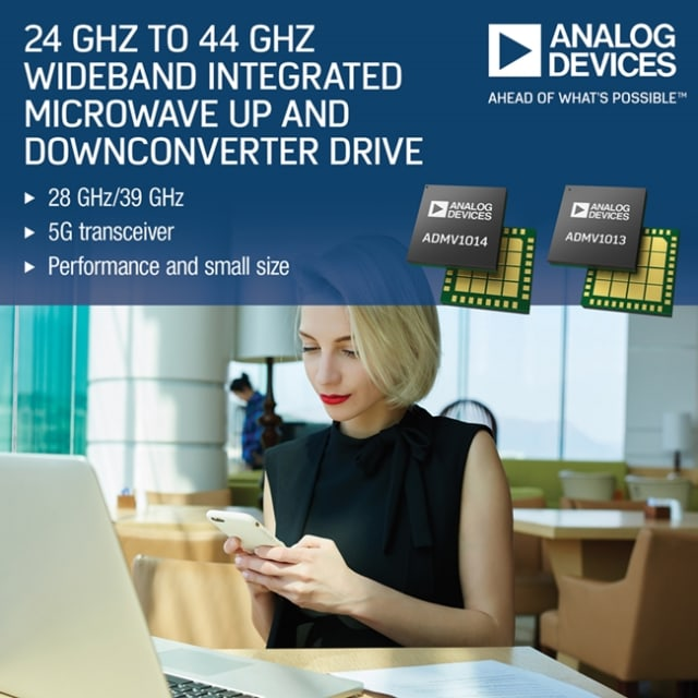 ADMV1013 and ADMV1014 microwave drives. (Image courtesy of Analog Devices.)