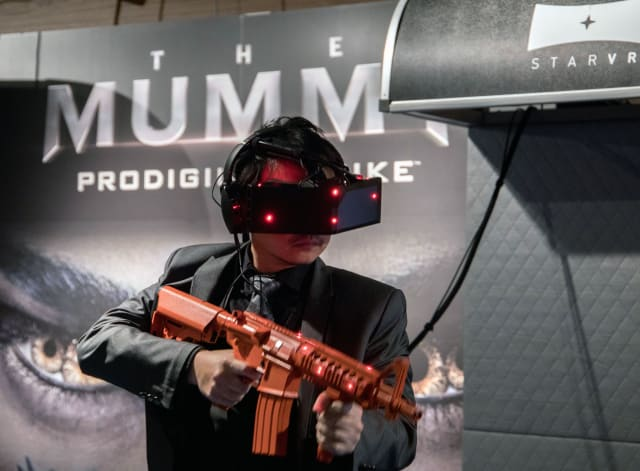StarVR offers its technology to several gaming experiences in Emaar Entertainment's VR park in The Dubai Mall. (Image courtesy of Cision.)