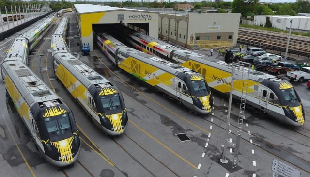 The Brightline train company recently submitted a bid to run a passenger line between Tampa and Orlando, a move that's been generally welcomed by transit-hungry Floridians. (Image courtesy of Brightline.)