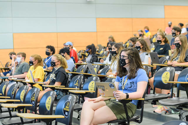 New practices developed under the Innovation College are expected to replace traditional classroom lectures. (Image courtesy of Purdue University.)