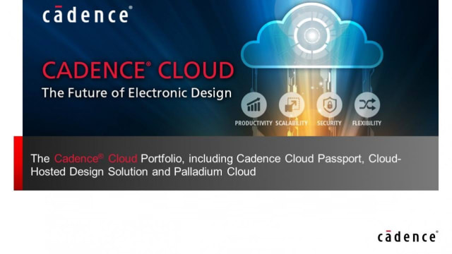 Cadence Cloud platform. (Image courtesy of Cadence.)