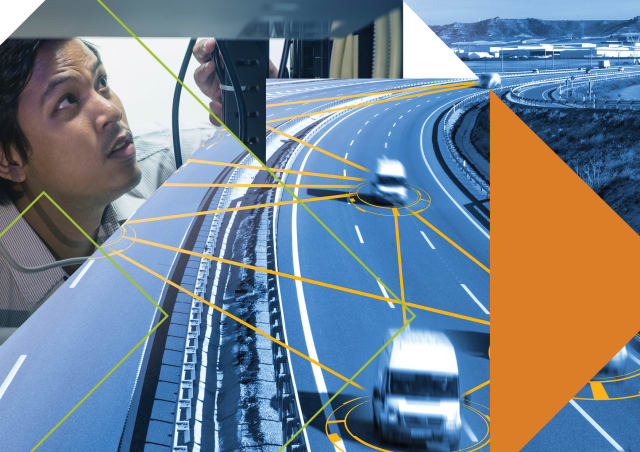 """Costain is helping Highways England develop a 5G-connected road that will eventually connect cars to each other and to roadside """"units.""""(Image courtesy of Costain.)"""