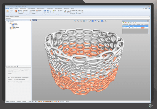 A screenshot of Visual3DPRINT. (Image courtesy of MecSoft.)
