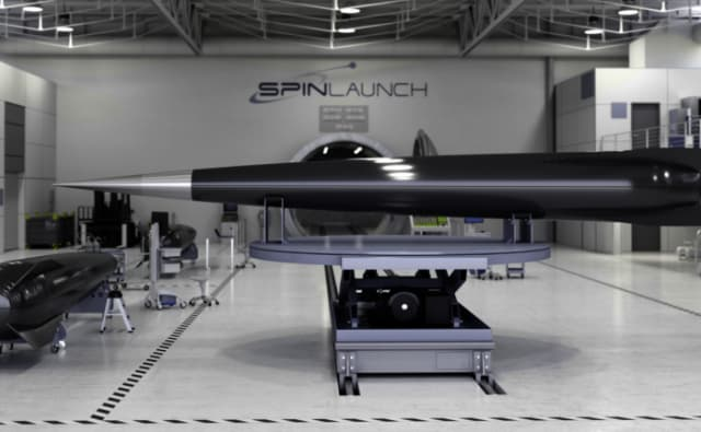 SpinLaunch plans to create catapult technology for space launches. (Image courtesy of SpinLaunch.)