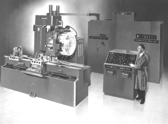 For the first time, complex cuts could be done by a machine that were not possible manually. That machine would cost $2.5 million dollars today. (Image courtesy of CMS North America.)