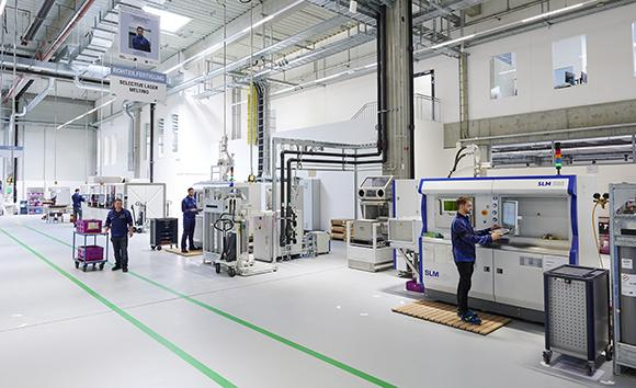 The BMW Group's new Additive Manufacturing Campus which houses 50 operational industrial systems. (Image courtesy of the BMW Group.)