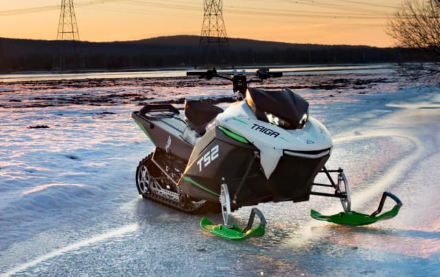 The Taiga TS2 electric snowmobile. (Image courtesy of Taiga Motors.)