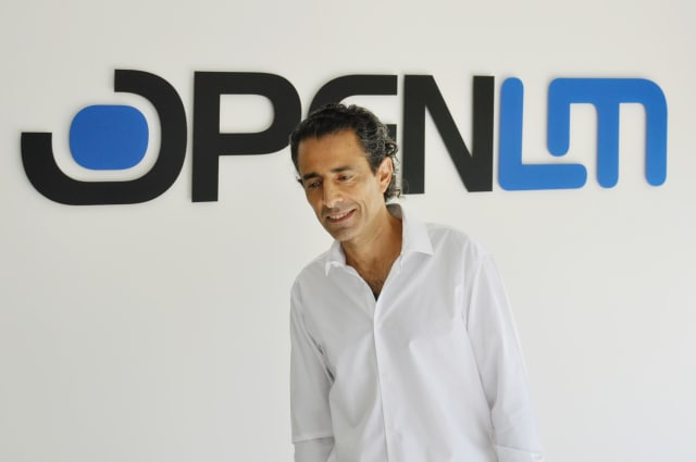 Oren Gabay, CEO of OpenLM, at the company's Israel headquarters. (Image courtesy of OpenLM.)