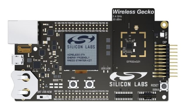The EFR32FG22 Wireless Gecko starter kit will be available in March. (Image courtesy of Silicon Labs.)