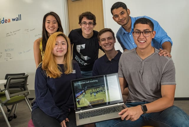 Rice University's students developed Cherrypick, a new sports analytics software. (Image by Jeff Fitlow, courtesy of Rice University.)