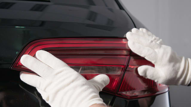 A taillight cover prototype 3D printed using the StratasysJ750. (Image courtesy of Stratasys.)