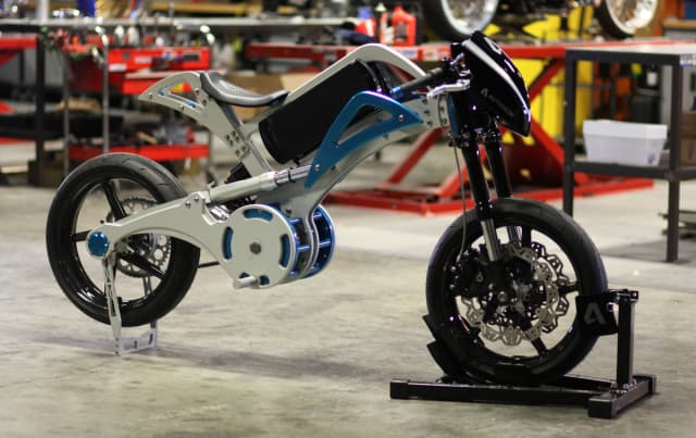 The Fusion 360 motorcycle designed and manufactured by OCC. (Image courtesy of Autodesk.)