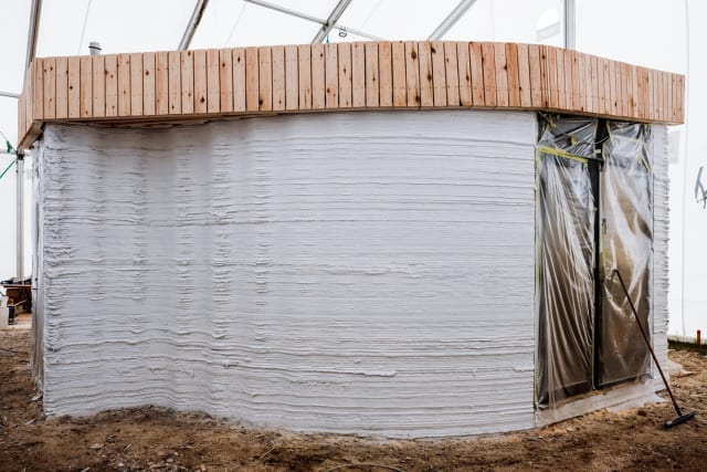 The BOD under construction. (Image courtesy of COBOD.)