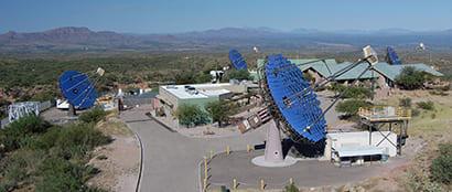The VERITAS Array. (Image courtesy of UC Santa Cruz.)