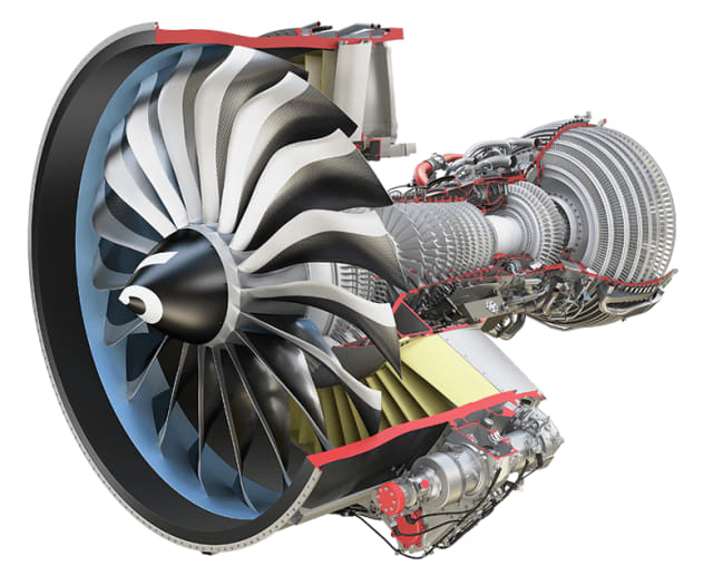The LEAP engine from CFM International features a number of cutting-edge technologies, including a 3D-printed fuel nozzle, initially designed with the help of Morris Technologies. (Image courtesy of CFM International.)