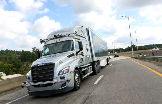 Automated trucks are hitting the road for testing after extensive safety and performance testing. (Image courtesy of Torc Robotics.)