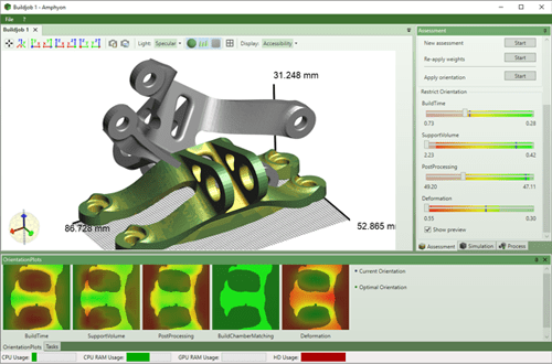 Figure 1. Amphyon's user interface. (Image courtesy of Additive Works.)