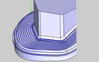 BobCAD-CAM also has a toolpath editor to modify different individual parts, edit feed-rates of individual toolpaths, delete parts of toolpaths or translate them into CAD data. (Image courtesy of BobCAD-CAM.)