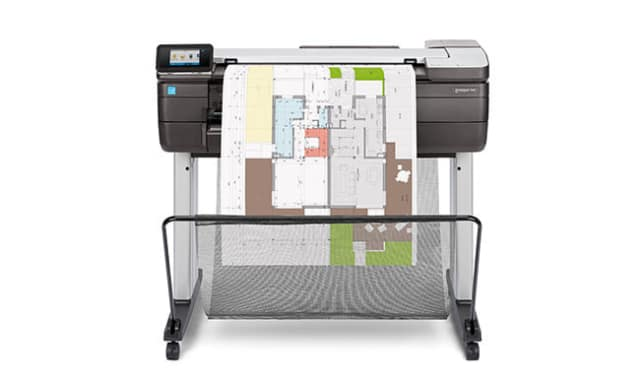 The compact printer is aimed squarely at the AEC sector—architects, engineers and construction teams could check it out in person and decide for themselves if they had any interest in a device that allows users to print, scan, copy and share plans on build sites and in any environment with electricity and a roof. (Image courtesy of HP.)
