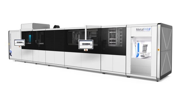 The MetalFAB1 with Product Removal Module. (Image courtesy of Additive Industries.)