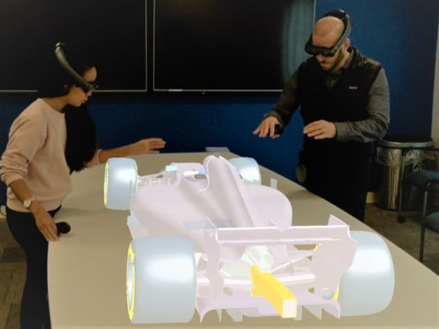 Onshape engineers test out the new Onshape for Magic Leap app. (Image courtesy of Onshape.)