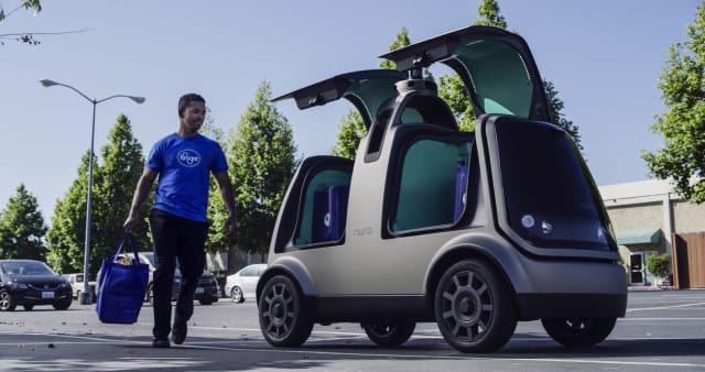Houston marks the second phase of the pilot project for the unmanned grocery delivery service offered by Kroger and Nuro. (Image courtesy of Kroger and Nuro.)