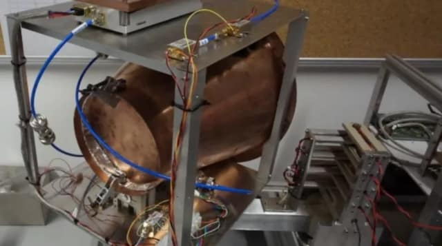 Physicists test the thrust capabilities of an EmDrive. (Image courtesy of Martin Tajmar.)