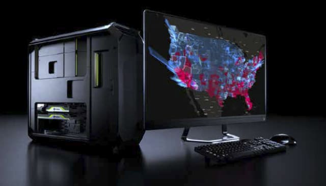An NVIDIA Quadro-powered Data Science Workstation. (Image courtesy of NVIDIA.)