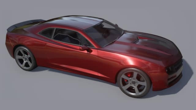 Figure 1. Muscle car model in Unreal Engine (Image courtesy of MathWorks.)