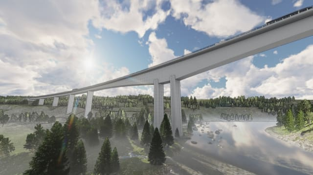 Overall Winner: the Randselva Bridge – Norway. Submitted by Sweco Structural Engineering, PNC. (Picture courtesy of Trimble.)