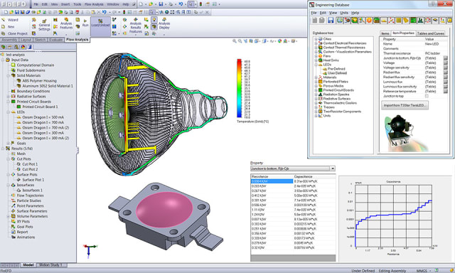 FloEFD integrates with many CAD packages. (Image courtesy of Mentor.)