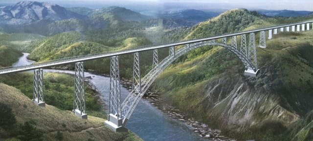 A 3D model of the completed Chenab Bridge. (Image courtesy of Vienna Consulting Engineers.)