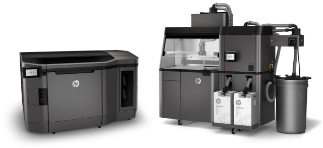 The HP Jet Fusion 3D 4200 printer with processing station. (Image courtesy of HP.)