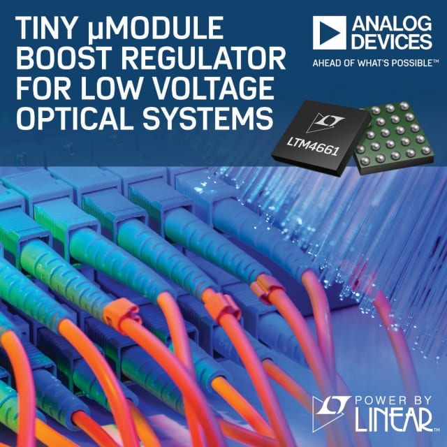 LTM4661 boost regulator. (Image courtesy of Analog Devices.)