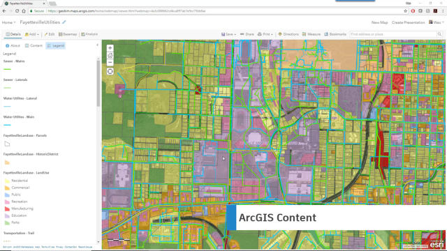A model in Esri's ArcGIS. The new Autodesk Connector lets Autodesk users import data directly from ArcGIS. (Image courtesy of Autodesk.)
