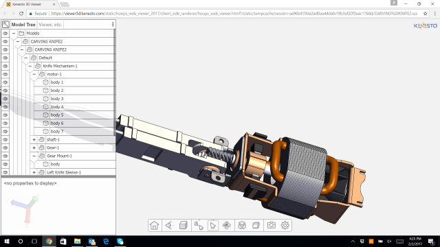 Users can send CAD files directly to a Kenesto drive. (Image courtesy of Kenesto.)