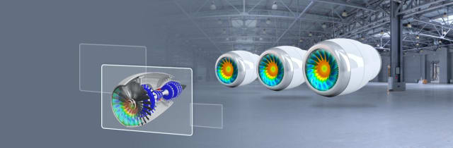 Turbofan digital twins. (Image courtesy of ANSYS.)