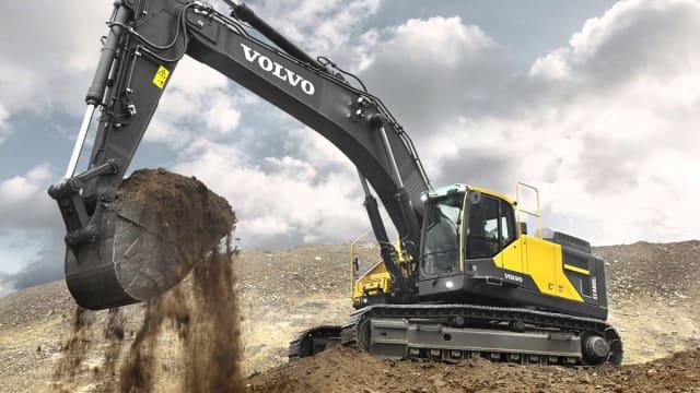 The Volvo EC140E excavator. (Image courtesy of Volvo CE.)
