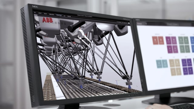 The ABB PickMaster Digital Twin. (Photo courtesy of ABB.)