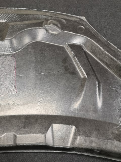 Car body panel produced using ProDrive's Primary to Tertiary process.