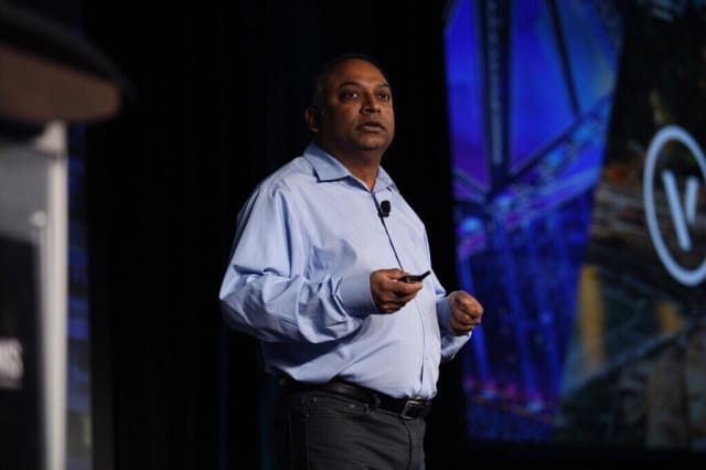 Vectorworks CEO Biplab Sarkar giving his keynote talk at the Design Summit.