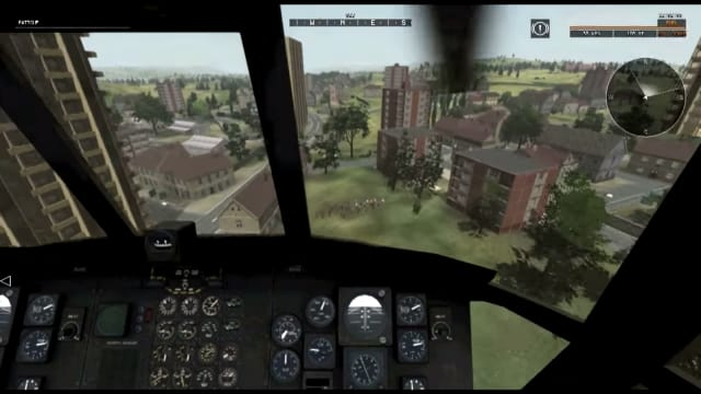 It's easy to see how a virtual training simulation could help combat troops and other soldiers prepare for some of the challenges that require a massive and specific environment to improve their reaction times to different wartime stimuli. (Image courtesy of University of Southern California Institute for Creative Technologies.)