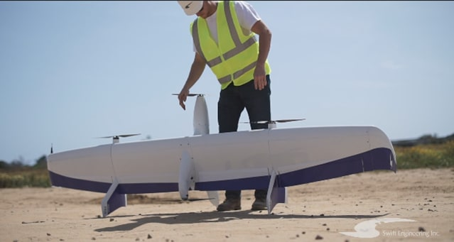 UAV developed and analyzed with Altair tools. (Image courtesy of Swift Engineering.)