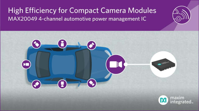 MAX20049 power management IC. (Image courtesy of Maxim.)