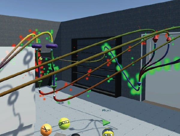 Project Ivy included a foot traffic simulator where data is logged to a cloud server and complex debugging programs can be used to optimize performance. (Image courtesy of Autodesk.)
