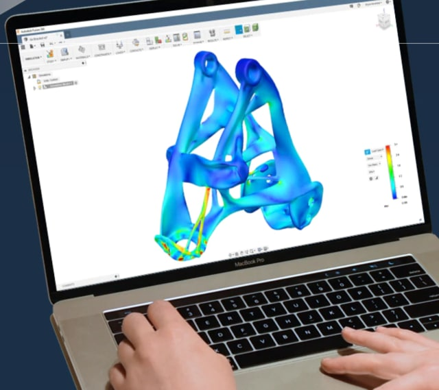 Simulation workspace in Fusion 360. (Image courtesy of Autodesk.)