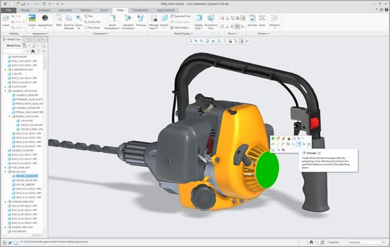 Creo Parametric is the successor to Pro/ENGINEER, which introduced the CAD industry to history-based parametric design.(Image courtesy of PTC).