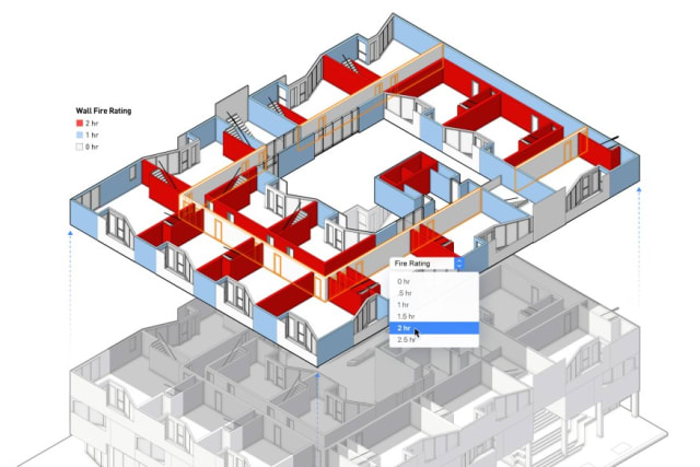 Data Visualization on the design layer makes it possible to quickly edit object features to address issues. (Image courtesy of Vectorworks.)