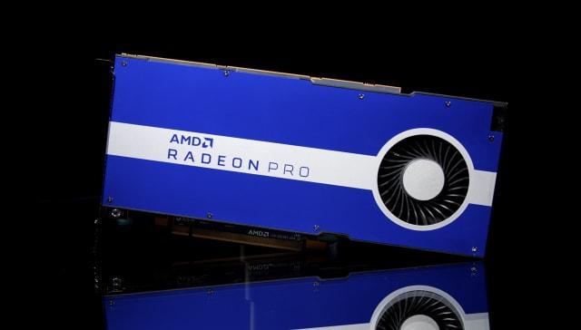 The new AMD Radeon Pro W5500 graphics card. (Image courtesy of AMD.)