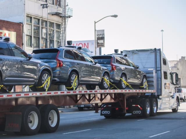Uber moves its self-driving cars from San Francisco to Arizona after a dispute with the city as to what constituted a self driving car and would require a permit. Many of the city's residents were not unhappy. (Image courtesy of Uber.)
